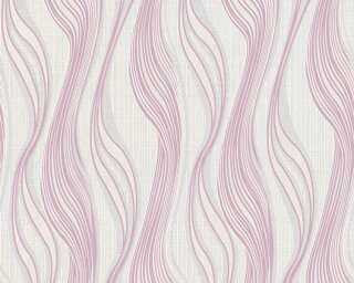 A.S. Création papier peint «Rayures, argent, blanc, gris, métallique» 371409