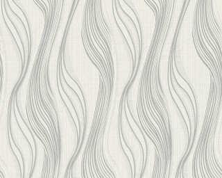 A.S. Création papier peint «Rayures, blanc, violet» 371423