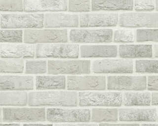 A.S. Création Wallpaper «Cottage, Grey, White» 371601