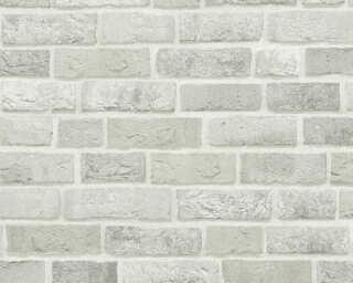 A.S. Création papier peint «Maison, blanc, gris» 371601