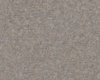 A.S. Création Wallpaper «Graphics, Beige, Brown, Grey, Silver» 371711