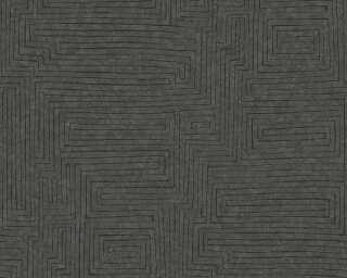 A.S. Création papier peint «Graphique, marron, noir» 371713