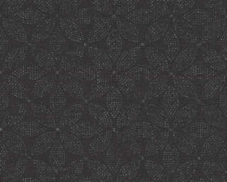 A.S. Création Wallpaper «Graphics, Floral, Black, Metallic, Silver» 371763