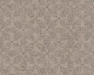 A.S. Création Wallpaper «Graphics, Floral, Beige, Black, Grey, Taupe» 371764