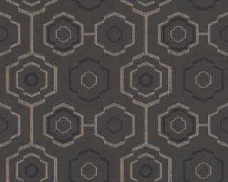 A.S. Création Wallpaper «Graphics, Floral, Black, Gold, Metallic» 371774