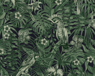 A.S. Création Wallpaper «Jungle, Black, Green» 372101
