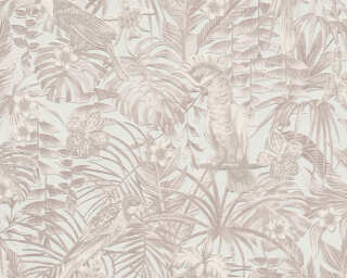 A.S. Création Wallpaper «Jungle, Beige, Cream, Grey, Taupe» 372102