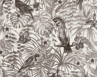 A.S. Création Wallpaper «Jungle, Black, Grey, White» 372105