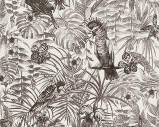 A.S. Création Tapete «Dschungel, Grau, Schwarz, Weiß» 372105