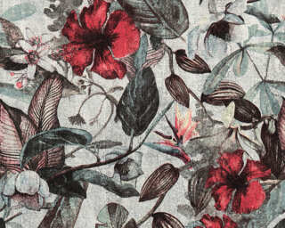 A.S. Création Wallpaper «Flowers, Black, Brown, Green, Grey» 372161