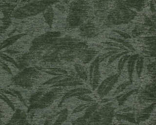 A.S. Création Wallpaper «Floral, Black, Green» 372193
