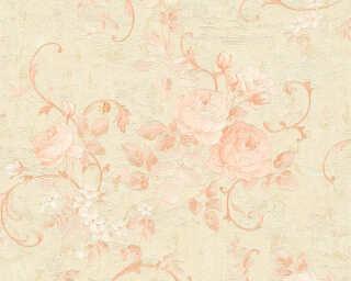 A.S. Création Wallpaper «Flowers, Cream, Gold, Metallic, Pink» 372241