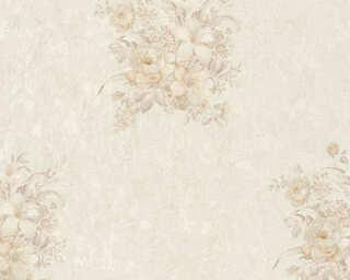 A.S. Création papier peint «Fleurs, beige, crème» 372254