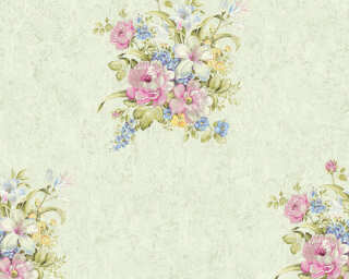 A.S. Création Wallpaper «Flowers, Green, Pink» 372255