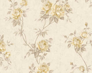 A.S. Création Wallpaper «Flowers, Beige, Brown, Cream» 372262