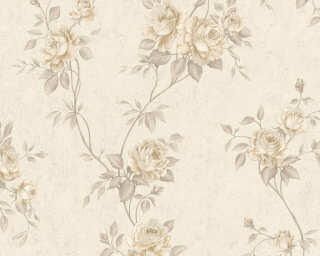 A.S. Création Wallpaper «Flowers, Beige, Brown, Cream» 372263