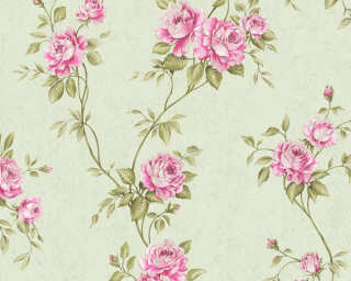 A.S. Création Wallpaper «Flowers, Green, Pink» 372264