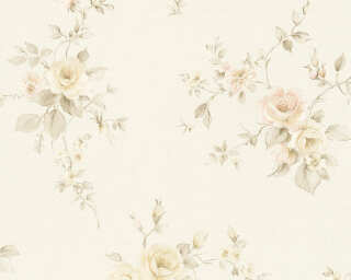 A.S. Création Wallpaper «Flowers, Beige, Brown, Cream, Pink» 372338