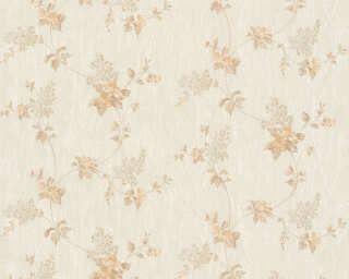 A.S. Création Wallpaper «Floral, Beige, Cream, White» 372529