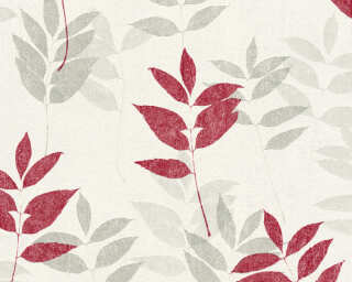 A.S. Création Wallpaper «Floral, Beige, Grey, Red, Taupe» 372613