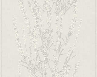 A.S. Création Wallpaper «Floral, Beige, Grey, Metallic, Silver» 372673