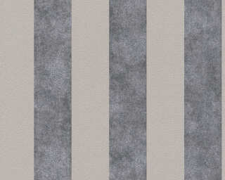 A.S. Création Wallpaper «Stripes, Beige, Black, Grey, Taupe» 372711