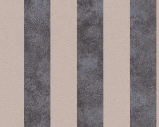 A.S. Création Wallpaper «Stripes, Beige, Black, Metallic» 372714