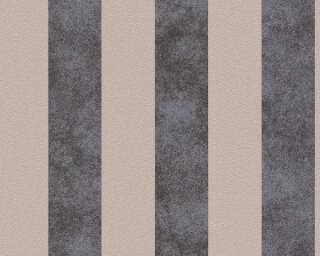 A.S. Création papier peint «Rayures, beige, métallique, noir» 372714