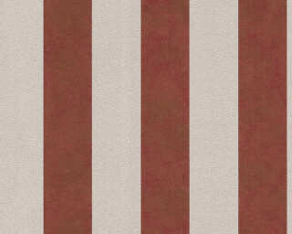 A.S. Création Wallpaper «Stripes, Beige, Metallic, Red» 372715