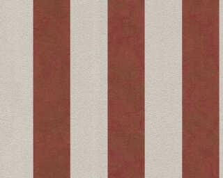 A.S. Création papier peint «Rayures, beige, métallique, rouge» 372715