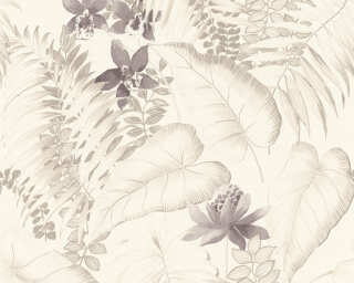 A.S. Création Wallpaper «Cottage, Flowers, Beige, Brown, Grey, Taupe» 372793