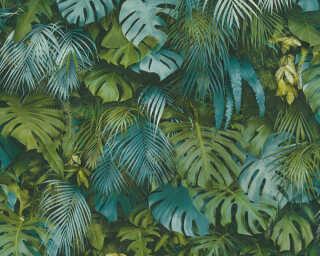 A.S. Création papier peint «Jungle, bleu, vert» 372803