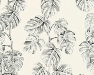 A.S. Création Wallpaper «Jungle, Black, Grey, White» 372812