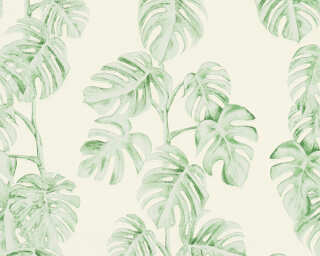 A.S. Création Wallpaper «Jungle, Green, White» 372813