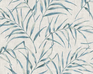 A.S. Création Wallpaper «Floral, Blue, Grey» 373351