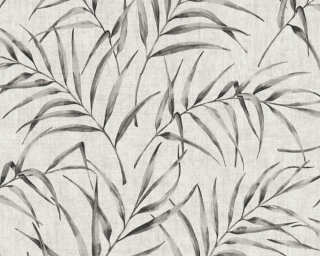 A.S. Création Wallpaper «Floral, Beige, Grey, Taupe» 373352