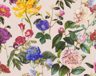 A.S. Création Wallpaper «Flowers, Blue, Coloured, Green, Pink» 373363
