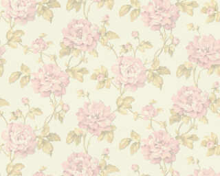 A.S. Création Wallpaper «Floral, Green, Pink, White» 373381