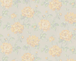 A.S. Création Wallpaper «Floral, Green, Grey, White, Yellow» 373385