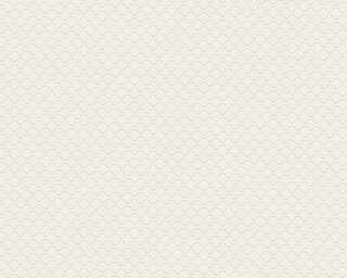 A.S. Création papier peint «Graphique, blanc, crème» 373641