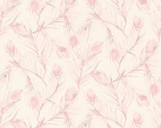 A.S. Création Wallpaper «Floral, Grey, Metallic, Pink, Silver» 373672
