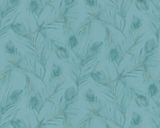 A.S. Création Wallpaper «Floral, Blue, Gold, Green, Metallic» 373673