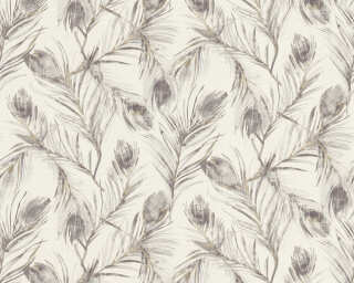 A.S. Création Wallpaper «Floral, Gold, Grey, Metallic» 373674