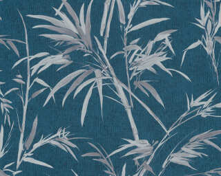 A.S. Création Wallpaper «Floral, Blue, Grey, Metallic, Silver» 373766