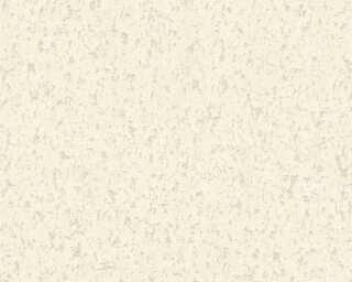 A.S. Création papier peint «Maison, Floral, blanc, gris» 373891
