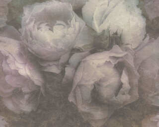 Livingwalls Обои «Цветы, Зеленые, Фиолетовые» 373921