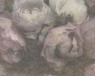 Livingwalls Tapete «Blumen, Grün, Violett» 373921