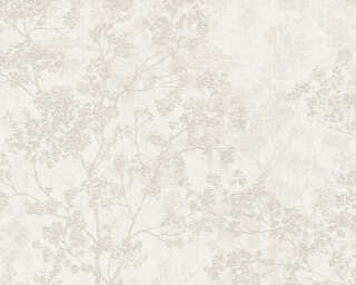Livingwalls Wallpaper «Floral, Beige, Cream, Grey, Taupe» 373972