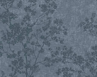 Livingwalls Wallpaper «Floral, Blue» 373974