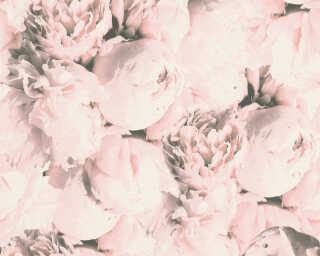 A.S. Création papier peint «Fleurs, crème, rose» 373982